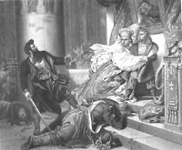 Czar Russia Exiled BOY PETER THE GREAT Saved by Mother, 1865 Art Print Engraving