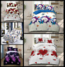 4 Pcs 3D Design Duvet Cover Complete Bedding Set Fitted Sheet & 2 Pillow Cases