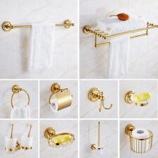 Luxury Gold Bathroom Accessory Towel Bar Ring Toilet Paper Bath Hardware Set