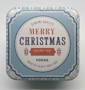 Fossil Watch Tin (Only) Merry Christmas Gift 2016 Like New