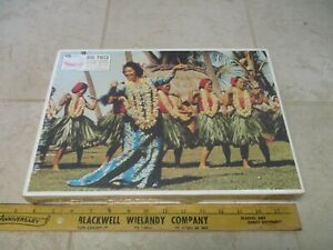 VTG Jaymar Faraway Places 800 Pc Puzzle 23x18 Japan Airlines Hawaii Hula Dancers