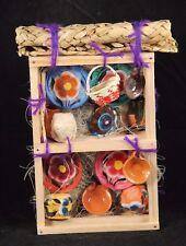 Miniature Kitchen Display Wood Shelf Wall Art Pot/Basket Folk Art Pottery Mexico