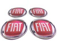 FIAT 4 x 60mm Silikon Emblem Felgen Aufkleber Logo Nabendeckel Nabenkappen