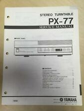 Yamaha Service Manual for the PX-77 Turntable Original