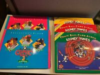 1990 & 1991 Looney Tunes Upper Deck Comic Ball Trading Cards Albums Set of 5