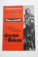 GARTEN DES BÖSEN - IV.Berlinale Premiere 1954 Werbeheft - Cooper Widmark Hayward