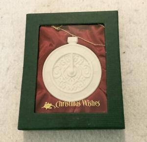 Demdaco Christmas Wishes Time Porcelain Christmas Tree Ornament