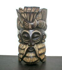 "Asian Hand Carved Traditional Wood Carving Mask 12"" (Home Decor, Wall Hanging)"