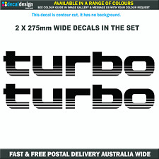 Turbo Decal Set suits Toyota Landcruiser 100 series choice of colours #T009