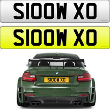 SLOW XO KIS SARCASTIC FUNNY CHEEKY NAUGHTY TEASE PRIVATE NUMBER PLATE