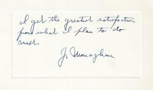 James Monaghan- Vintage Signed Notecard (Founder of Dominos Pizza???)