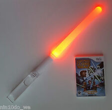 STAR WARS THE CLONE WARS LIGHTSABER DUELS (Wii)+U=FORCE+JEDI +RED GLOWING SABER!