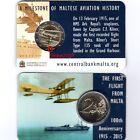 Coin Card Uff. 2 EURO COMMEMORATIVO MALTA 2015 Primo Volo - ZECCA OLANDA