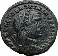 MAXIMINUS II 'Daia' 308AD Authentic Invictus Ancient Roman Coin Genius i77590