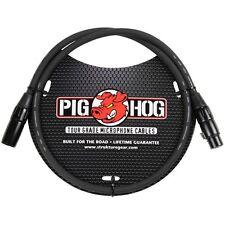 Pig Hog PHM3 8mm Microphone XLR Cable 3ft +Picks
