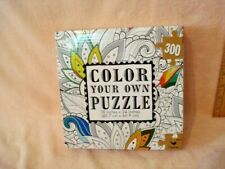 """Color Your Own Jigsaw Puzzle 300 Pieces Flower Coloring Cardinal NEW 18 x 24"""""""