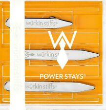 Wurkin Stiffs 3 Pair total 2.0 2.5 and 2.75in Power Collar Stays Silver Magnetic