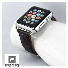 #22 Business Bracciale in pelle in marrone scuro per Apple Watch (42mm) 1/2/3
