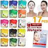 17pcs Essence Facial Mask Sheet + 30 Sheets Purederm Collagen Eye Zone Mask