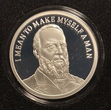 1 OZ SILVER SHIELD PROOF JAMES GARFIELD SSG MEMBERS ONLY(2021) .999 ROUND