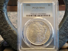 1886 MORGAN SILVER DOLLAR PCGS MS61