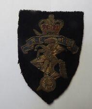 1950's REME Royal Electrical & Mechanical Engineers Bullion Cloth badge