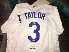 Chris Taylor Signed Los Angeles Dodgers Jersey Superstar Beckett