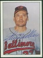 Original Autograph of Stu Miller of the Baltimore Orioles on a 1978 TCMA Card