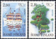 Finland 1991 Ferry/Boat/Transport/Map/Animation/Postal/Nordic 2v set (b735p)