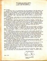 Trials of Rosie O'Neill Letter from Producer TV Show 1992 CBS Barney Rosenzweig