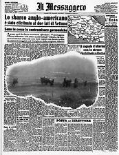 WW2 - CP italienne 1er Jour - Débarquement en Italie d'après El Messagero