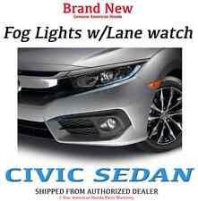 Genuine OEM Honda Civic 4Dr Sedan Fog Lights Set 2016 EX Lane Watch Light