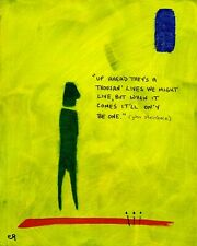 up ahead they's a thousan' ... e9Art 8x10 Quote Abstract Figurative Outsider Art