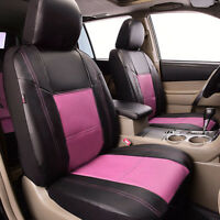 Universal Car Seat Covers Pink For Women Girls Car Seat Cover Set Leather Split