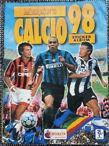 Calcio 1998 soccer sticker album used, incomplete.