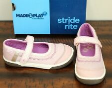 New Stride Rite Pink Mary Jane Sneakers sz 9.5 W Wide Girls Shoes Jill Blush