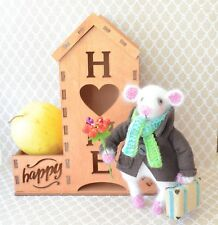 Crochet mouse Traveler Stuffed animal Knitted toy Amigurumi plush
