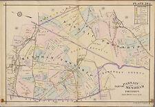 1910 PASSAIC MENDHAM TOWNSHIP & MORRIS COUNTY BROOKSIDE STA NEW JERSEY ATLAS MAP