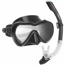 SwimStar Snorkel Set for Women and Men, Anti Fog Tempered Glass Snorkel Mask