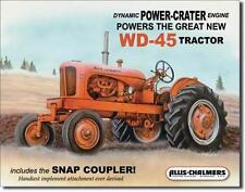 Allis Chalmers WD-45 USA Traktor Vintage Style Grafik Metall Schild