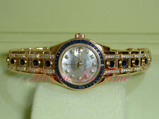 Rolex Pearlmaster Ladies 18kt Yellow Gold Baguette Masterpiece Sapphire 80308