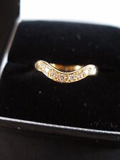 18CT GOLD DIAMOND WISHBONE / WEDDING / DRESS RING BNIB MADE IN ENGLAND QUALITY