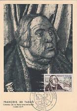 1 enveloppe journée du timbre 1956 François de Tassis 17 mars 1956