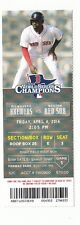 2014 BOSTON RED SOX VS BREWERS OPENING DAY RING CEROMONY TICKET STUB 4/4/14