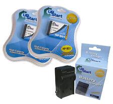 2 Battery+Charger SONY CyberShot Camera NP-BD1 NP-FD1 BC-CSD DSC-T2 DSC-T900 T2~