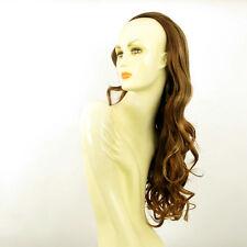 Demi-tête, demi-perruque 65cm châtain cuivré méché blond clair ref 015 en 6bt27b