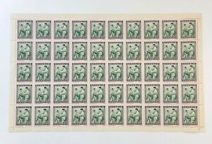 Indonesia 1949 - SC# 31 Soekarno Decorating Soldier - Sheet of 50 Stamps - MNH