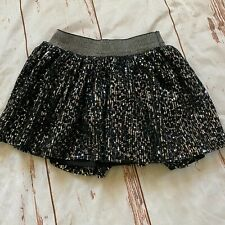 Justice girls sparkly skirt-black-size 8-guc