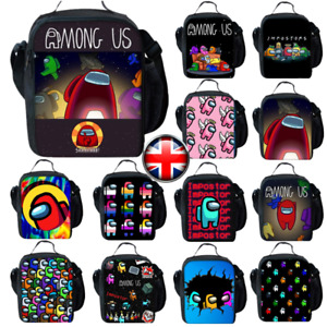 UK Kids Among Us Insulated Lunch Bag School Snack Box Travel Waterproof Hand Bag