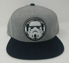 fcfd1f8947c Star Wars 2 Toned Marled Gray Black Storm Trooper Adjustable Snapback Cap  Hat